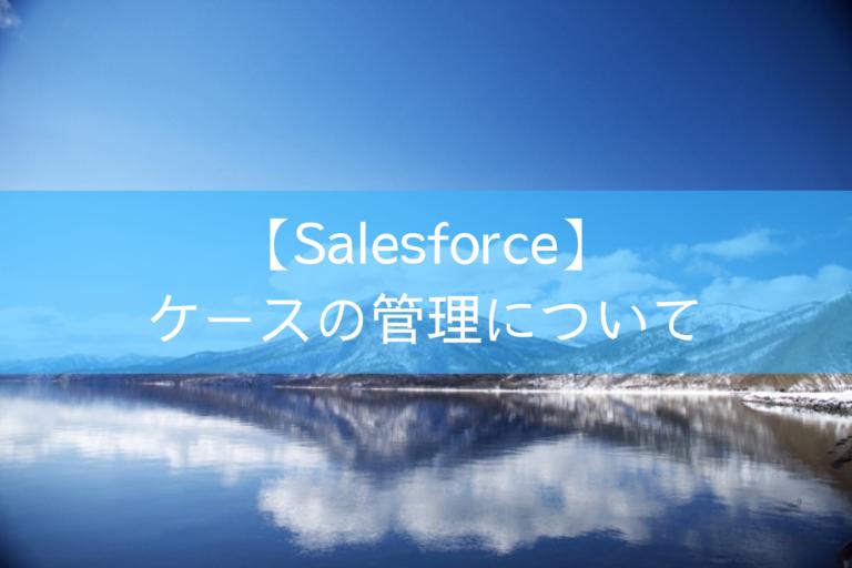 【Salesforce】ケースの管理について