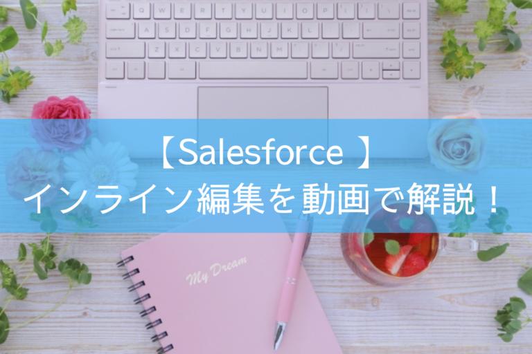 【Salesforce 】インライン編集を動画で解説!
