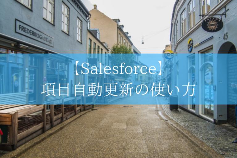 Salesforceの項目自動更新