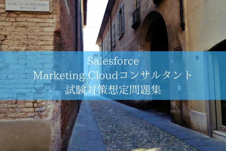 Salesforce Marketing Cloudコンサルタント 試験対策想定問題集