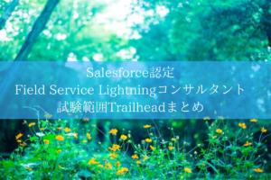Salesforce認定 Field Service Lightningコンサルタント試験範囲Trailheadまとめ