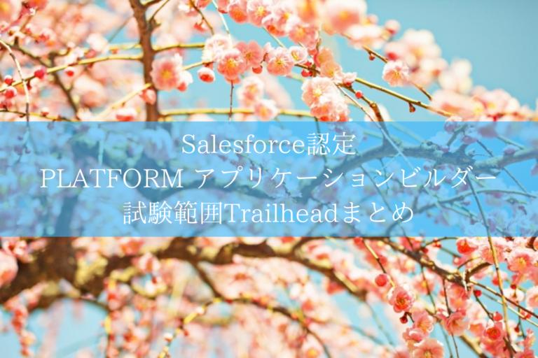 Salesforce認定 PLATFORM アプリケーションビルダー試験範囲Trailheadまとめ