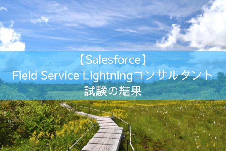 Field Service Lightningコンサルタント試験の結果